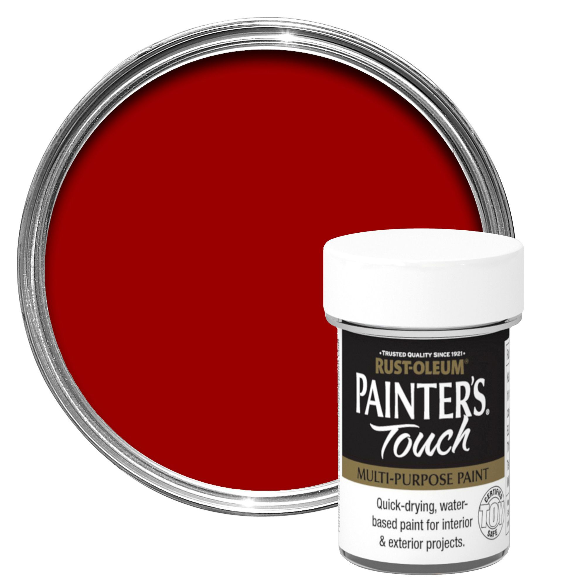 Rust-oleum Painter's Touch Interior & Exterior Deep Red Gloss Multipurpose Paint 20ml