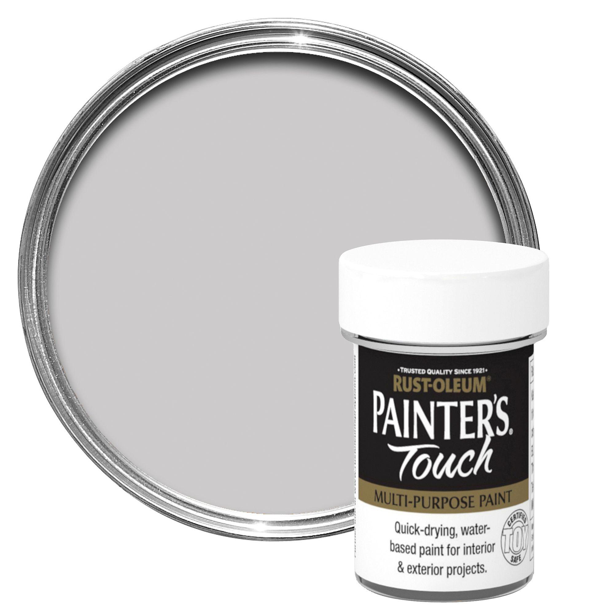 Rust Oleum Painter 39 S Touch Interior Exterior Silver Gloss Multipurpose Paint 20ml