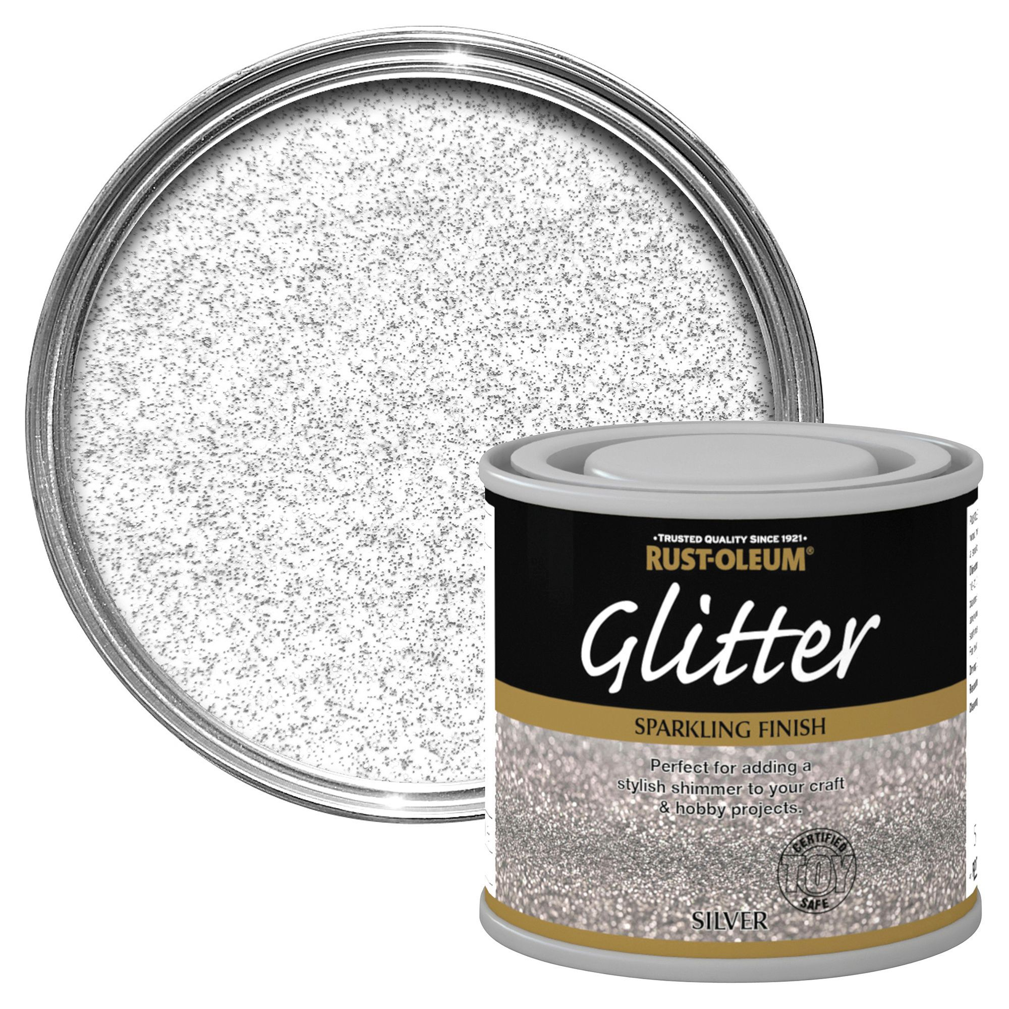 Rust-Oleum Silver Glitter Effect Special Effect Paint 125ml
