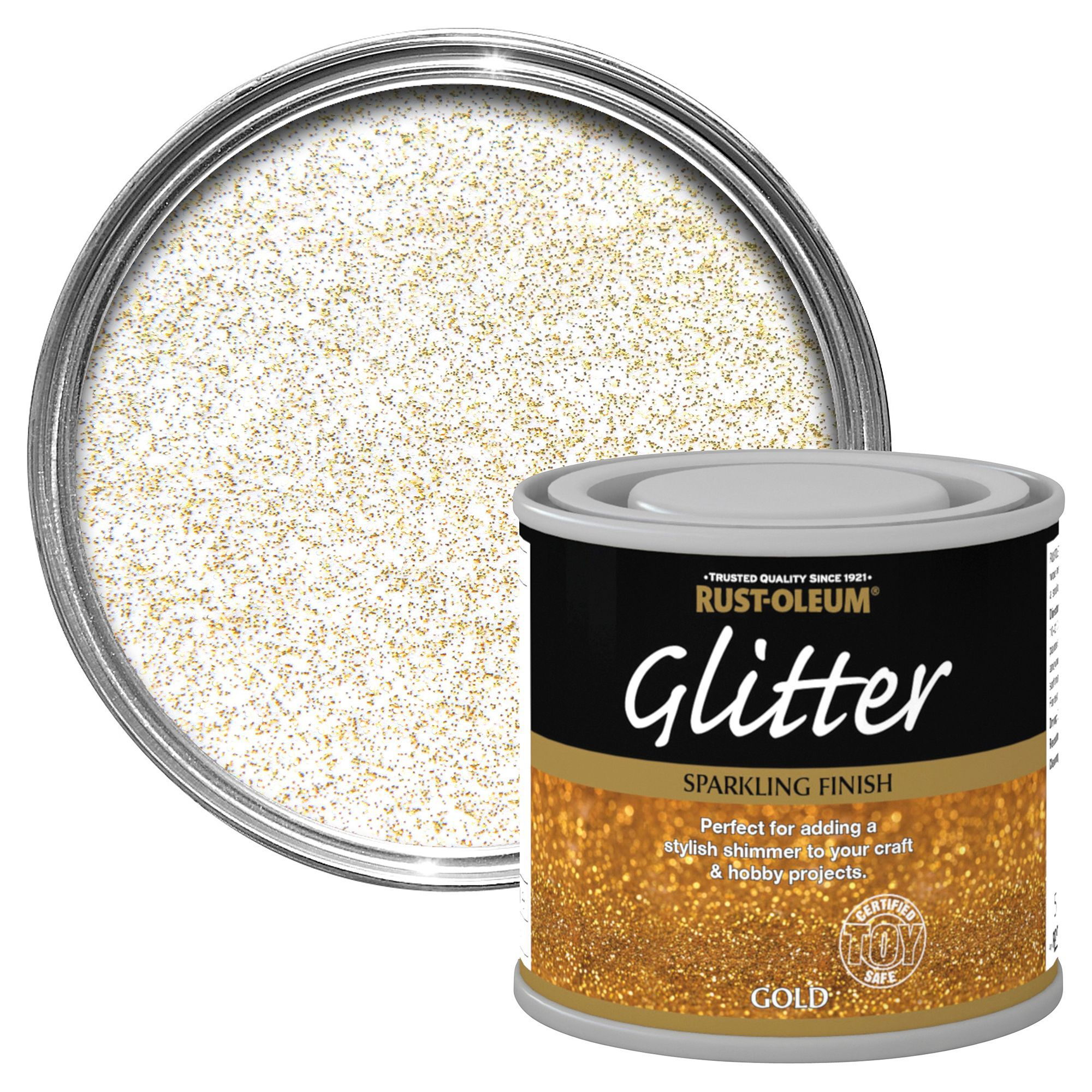 Rust-oleum Rust-oleum Gold Glitter Effect Gloss Special Effect Paint 125 Ml