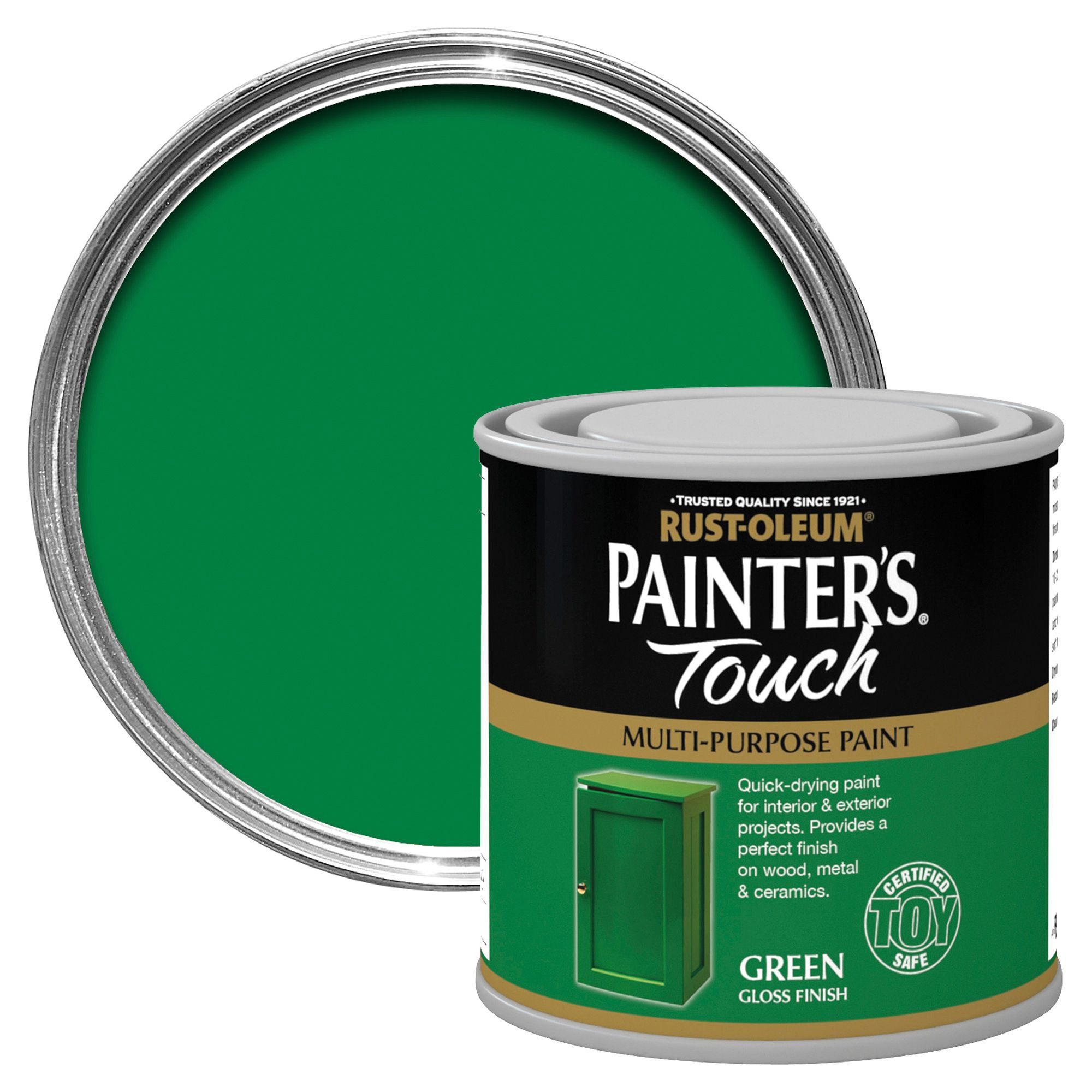 Rust-Oleum Painter's Touch Interior & Exterior Green Gloss Multipurpose Paint 250ml