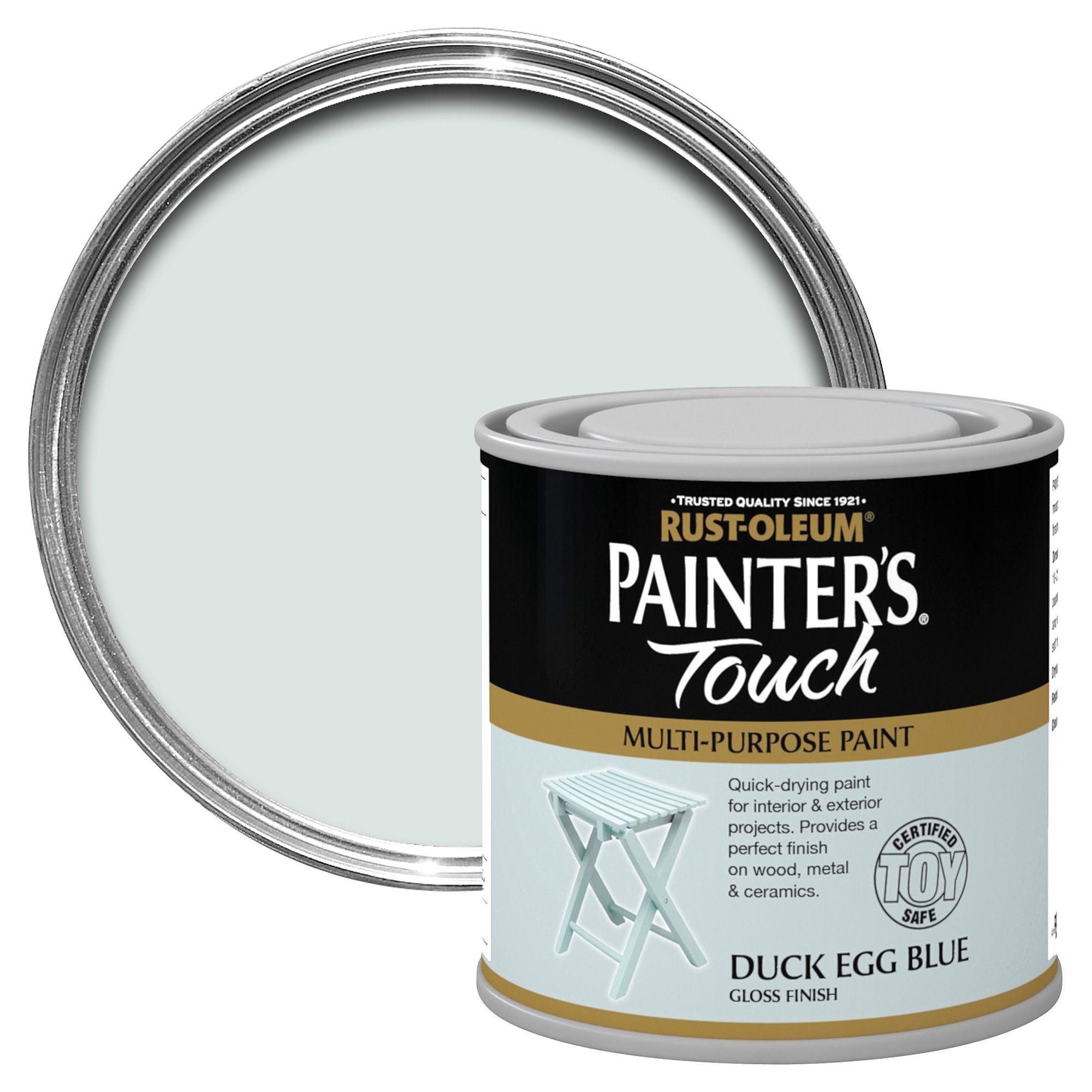 Rust-oleum Painter's Touch Interior & Exterior Duck Egg Blue Gloss Multipurpose Paint 250ml