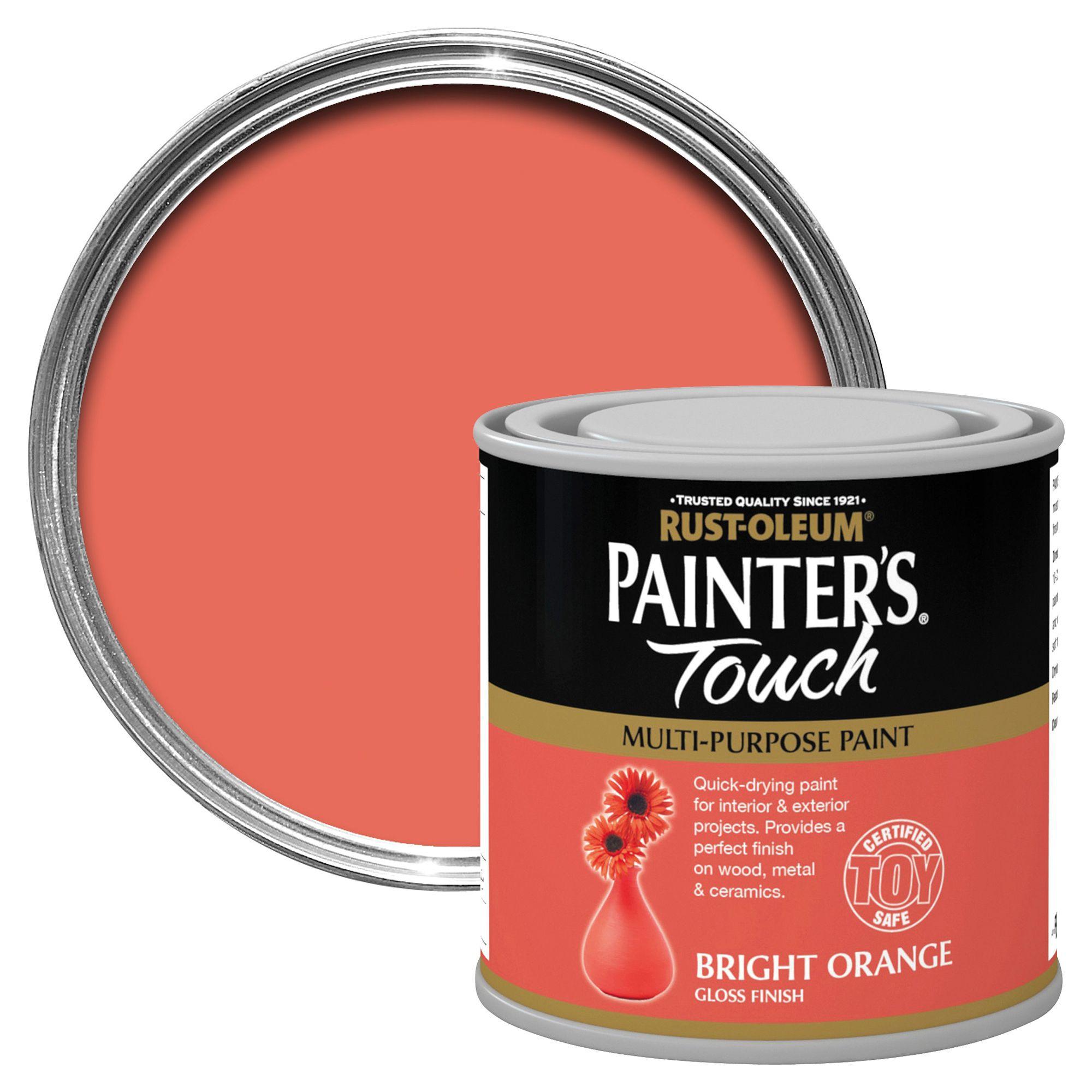 Rust-oleum Painter's Touch Interior & Exterior Bright Orange Gloss Multipurpose Paint 250ml