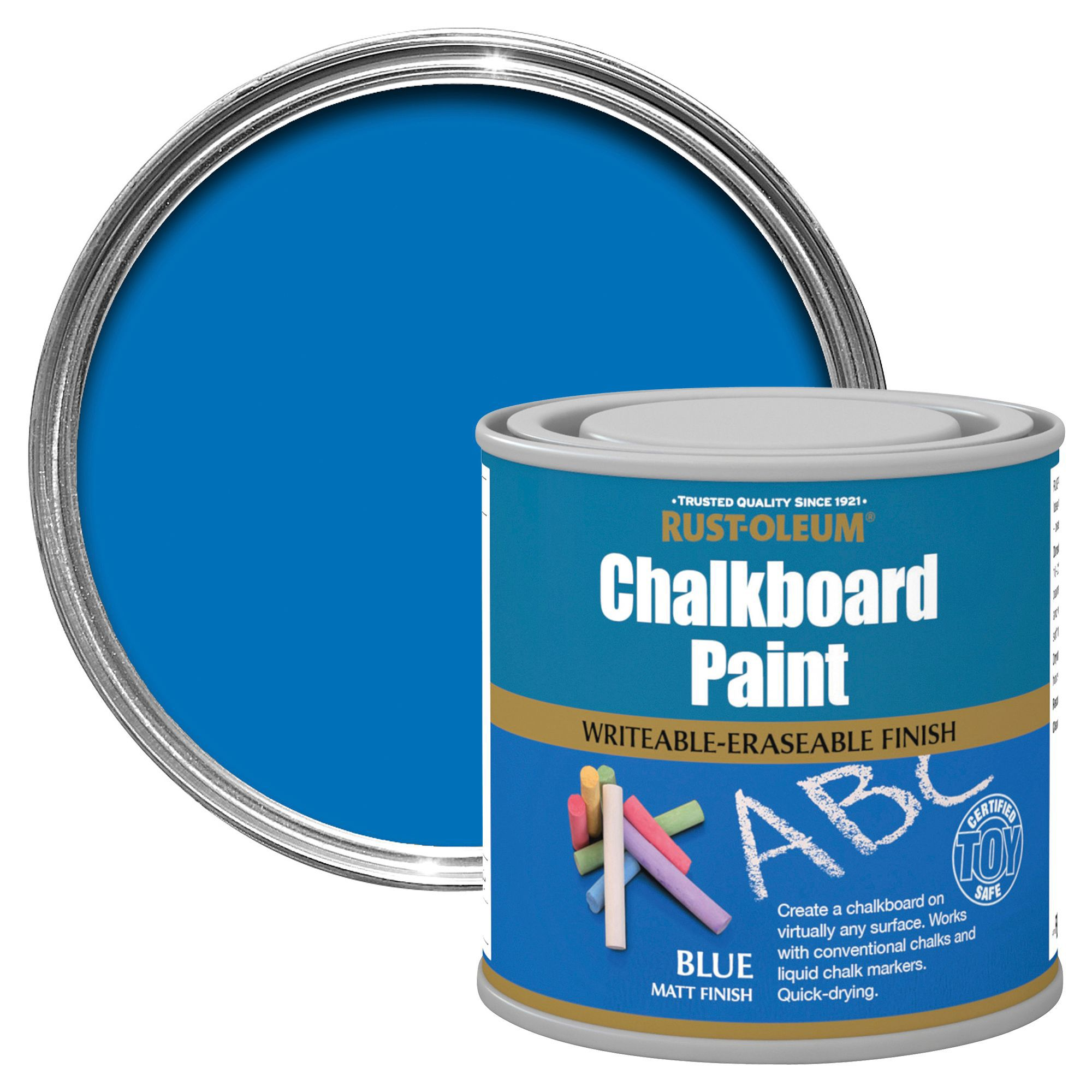 Rust-Oleum Blue Matt Chalkboard Paint 250ml