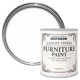 Rust-Oleum Chalk White Chalky Matt Furniture Paint 750ml