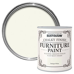 Rust-Oleum Antique White Chalky Matt Furniture Paint 750ml