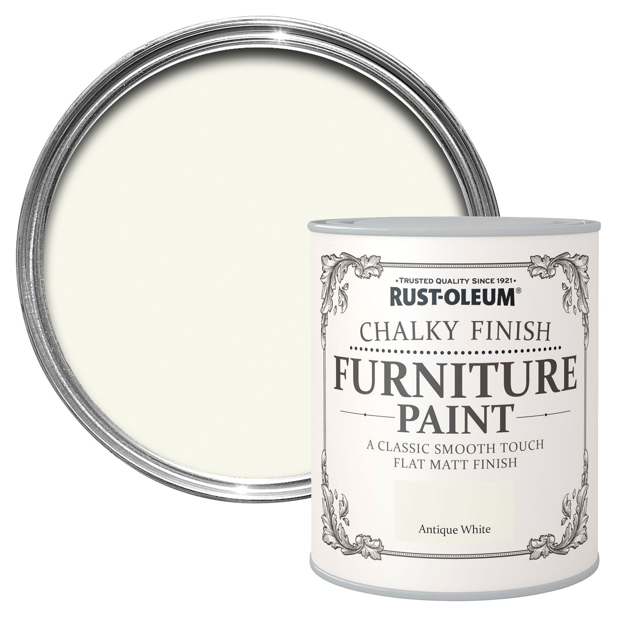 Rust-oleum Antique White Chalky Matt Furniture Paint 125 Ml