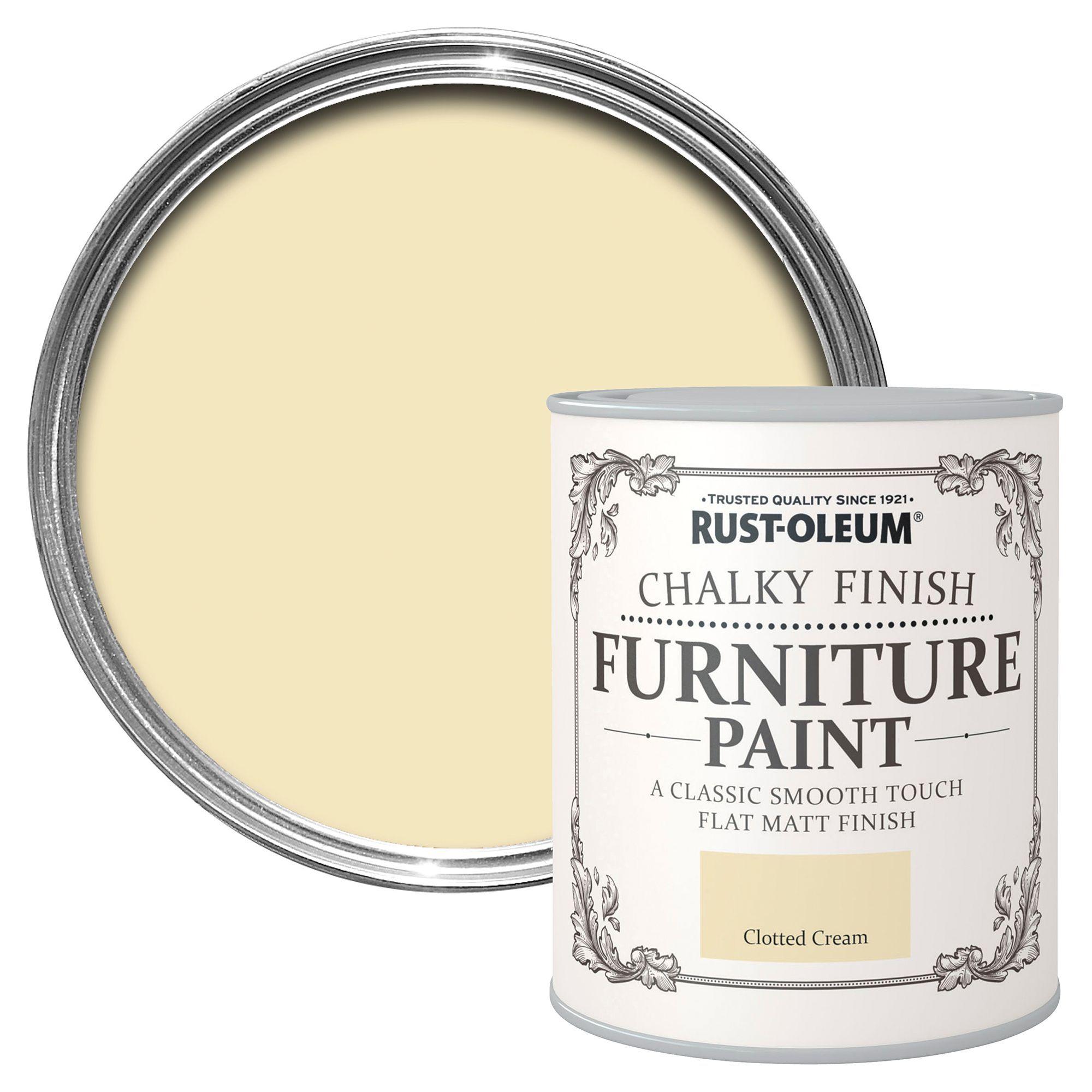 Rust-oleum Rust-oleum Clotted Cream Chalky Matt Furniture Paint 750 Ml