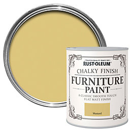 Rust-Oleum Mustard Chalky Matt Furniture Paint 750ml