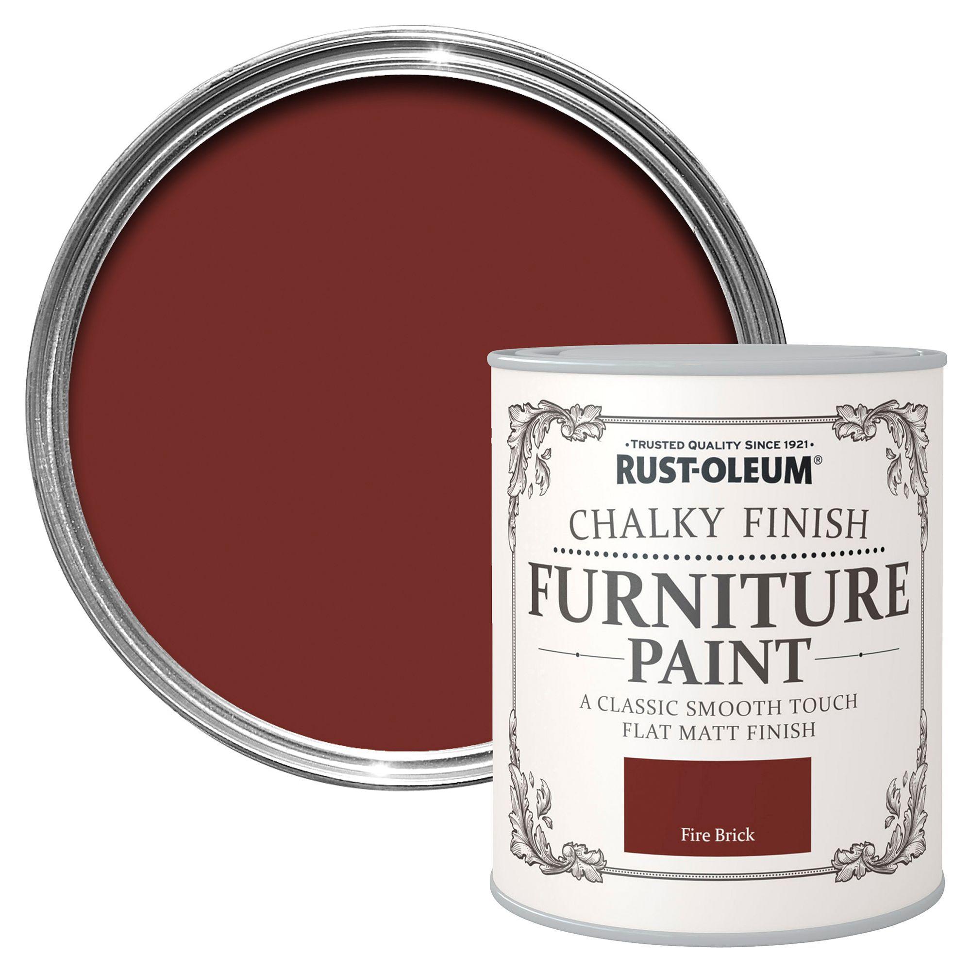 Rust-oleum Rust-oleum Fire Brick Matt Furniture Paint 750 Ml
