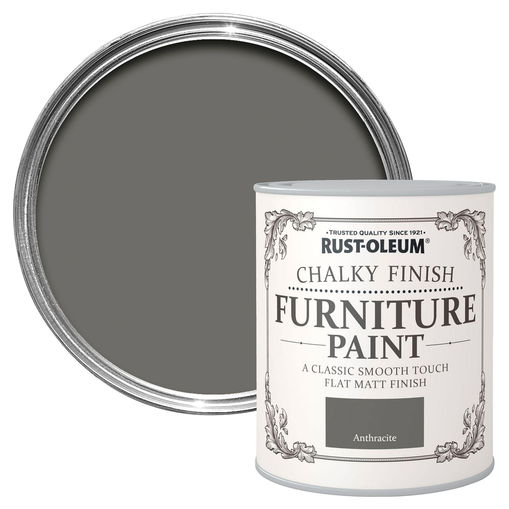 Rust-oleum Rust-oleum Anthracite Chalky Matt Furniture Paint 750 Ml