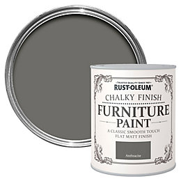 Rust-Oleum Anthracite Chalky Matt Furniture Paint 750ml
