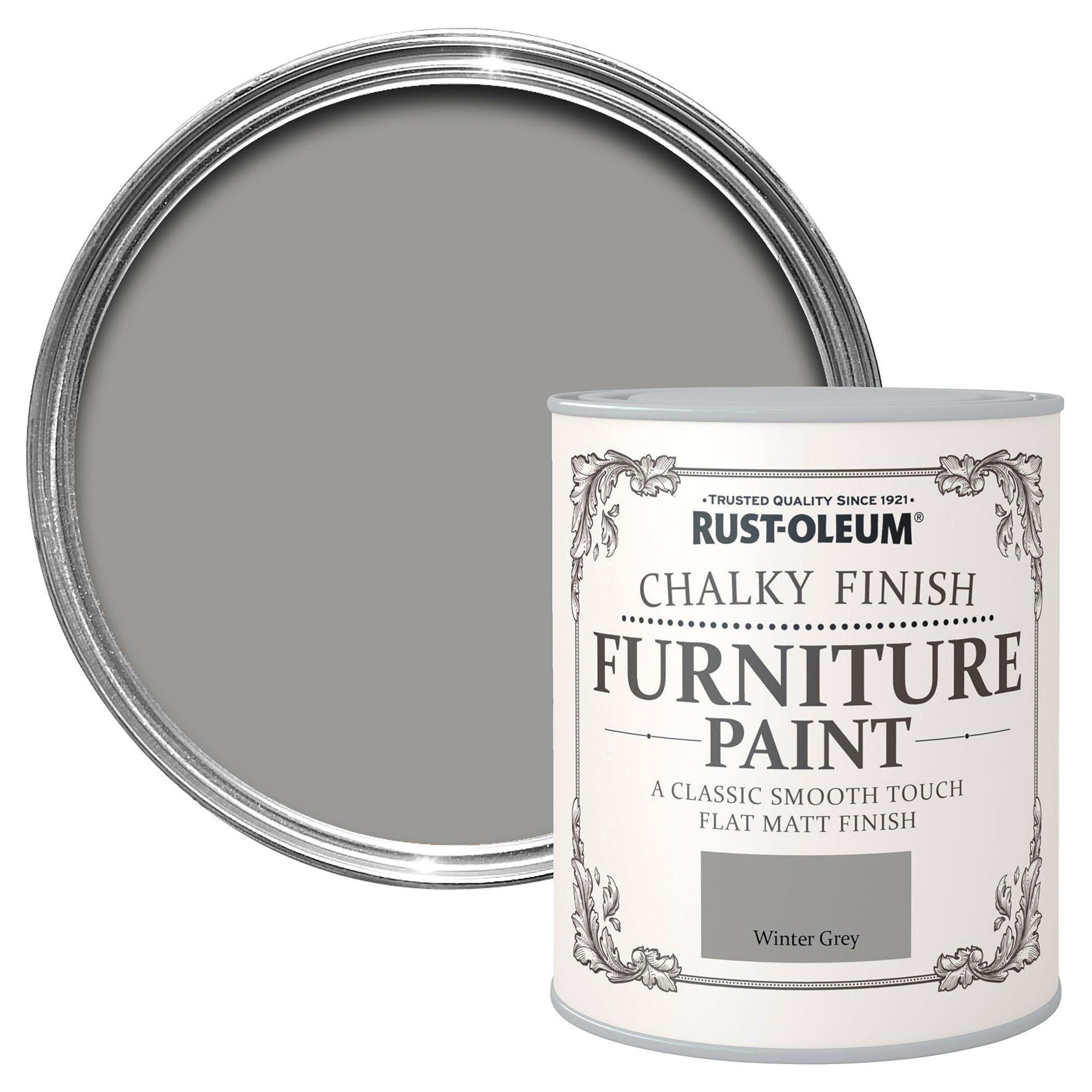 Rust-oleum Rust-oleum Winter Grey Chalky Matt Furniture Paint 750 Ml