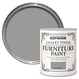 Rust-Oleum Winter Grey Chalky Matt Furniture Paint 750ml