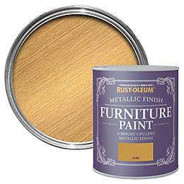 Rust-Oleum Gold Metallic Furniture Paint 750ml
