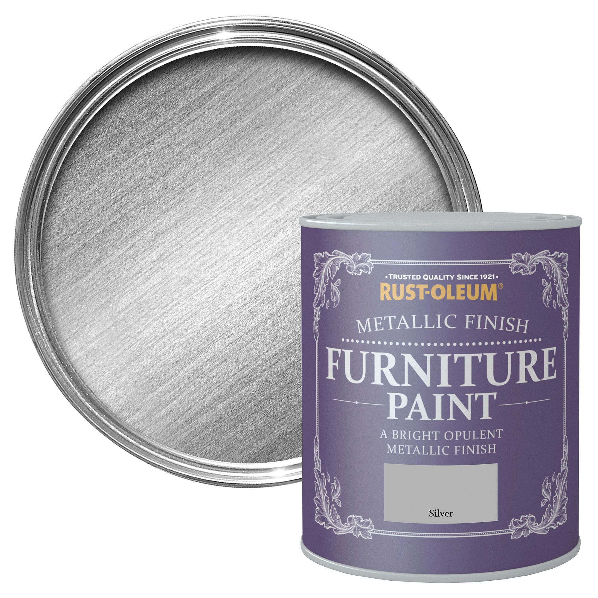 Rust-Oleum Rust-Oleum Silver Metallic Metallic Furniture Paint 750 ml | Departments ...