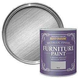 Rust-Oleum Silver Metallic Furniture Paint 750ml