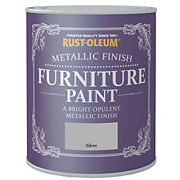 Rust-Oleum Silver Metallic Effect Furniture Paint 125ml
