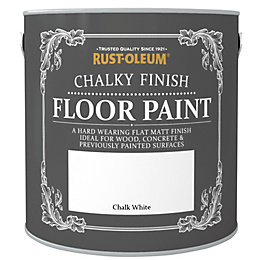 Rust-Oleum Chalk White Chalky Floor Paint 2.5L