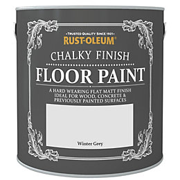 Rust-Oleum Chalky Winter Grey Flat Matt Floor Paint