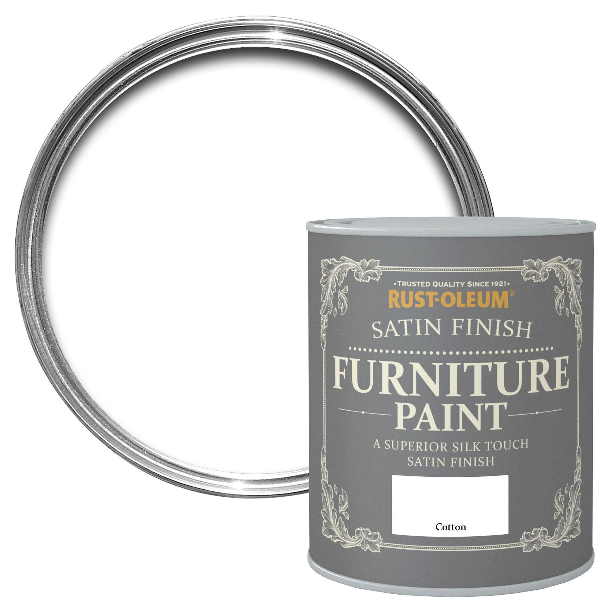 Rust Oleum Satin Finish Furniture Paint Cotton Ml