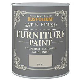 Rust-Oleum Mocha Satin Furniture Paint 750ml