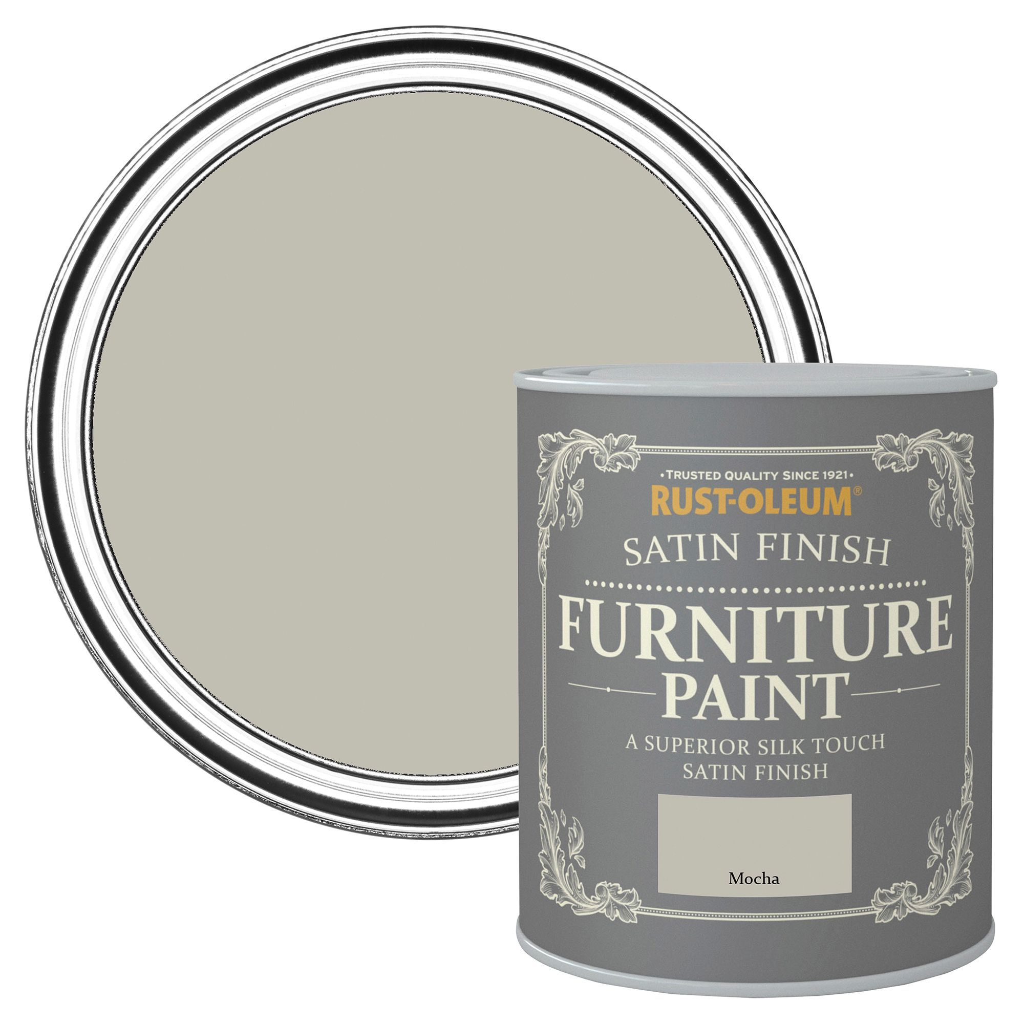 rust oleum rust oleum mocha satin furniture paint 750 ml
