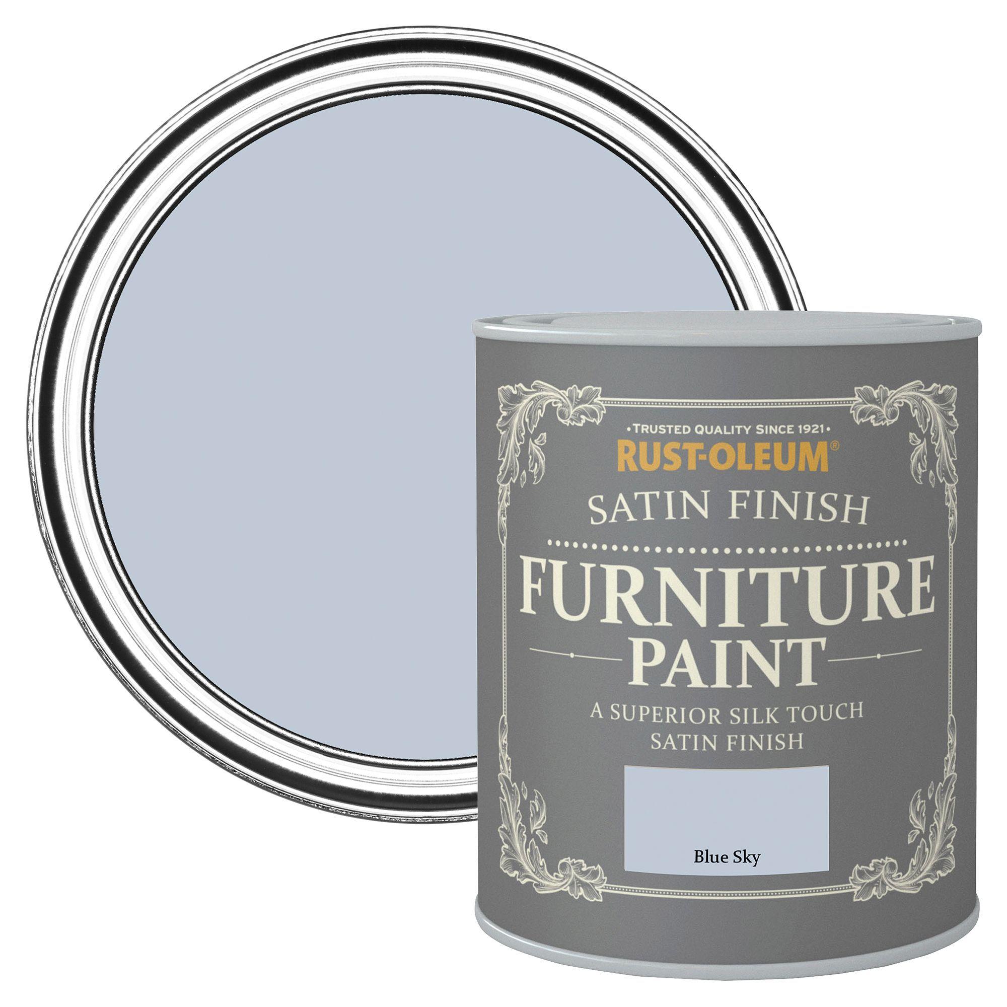 rust oleum rust oleum blue sky satin furniture paint 750 ml