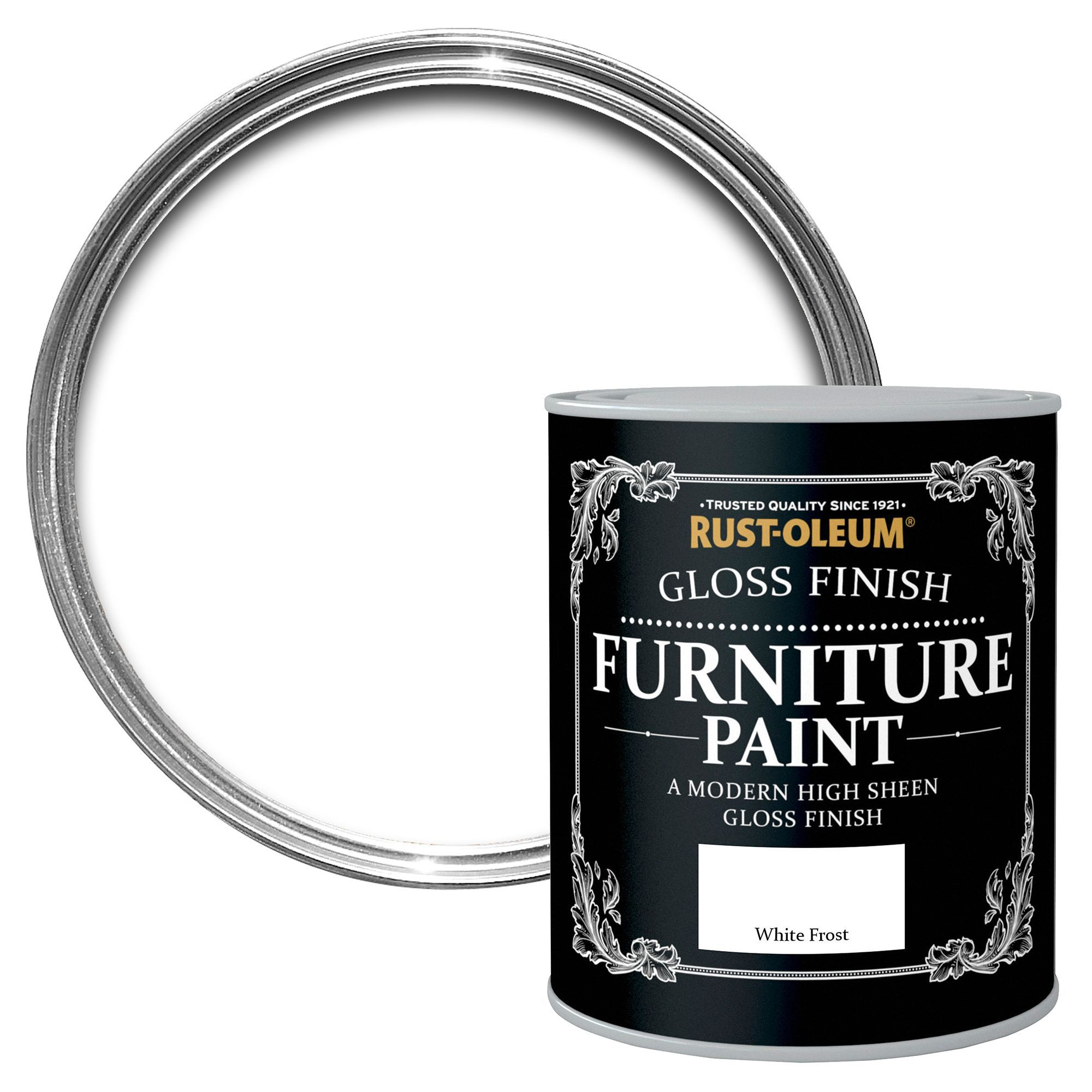 Rust-oleum White Frost Gloss Furniture Paint 750 Ml