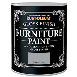Rust-Oleum Mineral Grey Gloss Furniture Paint 750ml