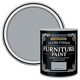 Rust-Oleum Mineral Grey Gloss Furniture Paint 750 ml