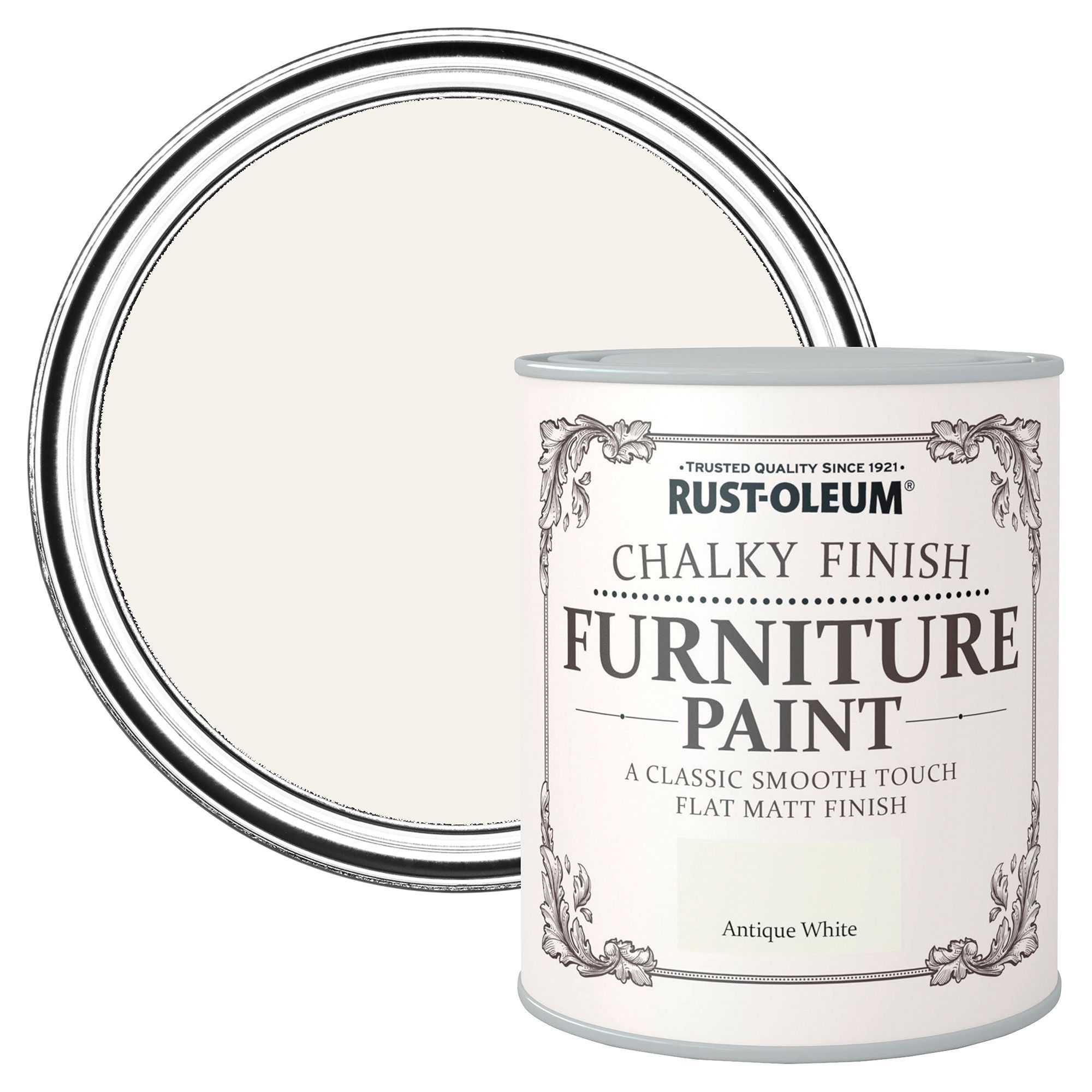 Rust-oleum Antique White Flat Matt Furniture Paint 2.5l