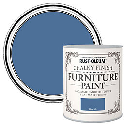 Rust-Oleum Blue Silk Flat Matt Furniture Paint 750ml