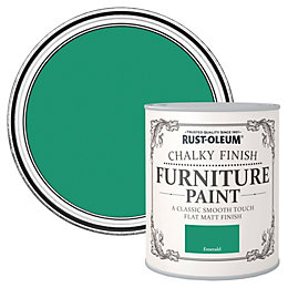 Rust-Oleum Emerald Flat Matt Furniture Paint 0.125L