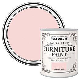 Rust-Oleum Strawberry Vanilla Flat Matt Furniture Paint 125ml