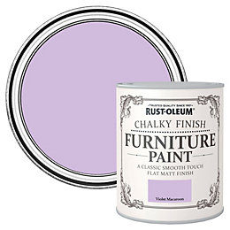 Rust-Oleum Violet Macaroon Flat Matt Furniture Paint 750ml