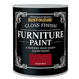 Rust-Oleum Empire Red Gloss Furniture Paint 750ml