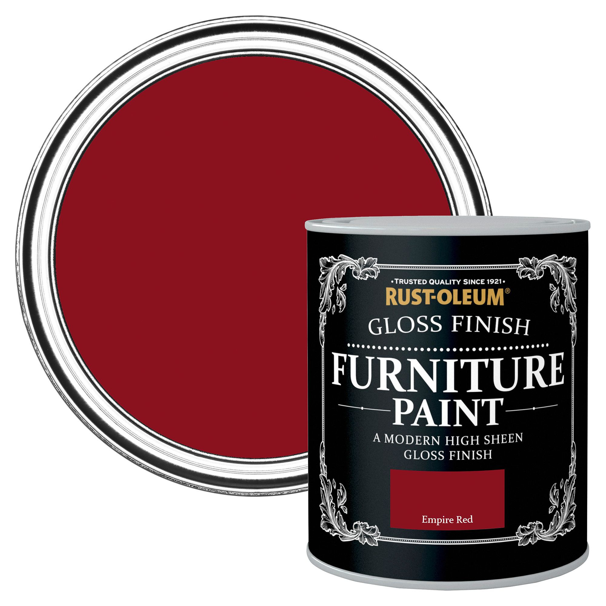 Rust-oleum Empire Red Gloss Furniture Paint 750 Ml