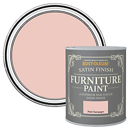 Rust-Oleum Pink Champagne Satin Furniture Paint 750ml