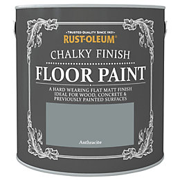 Rust-Oleum Chalky Anthracite Flat Matt Floor Paint 2.5L