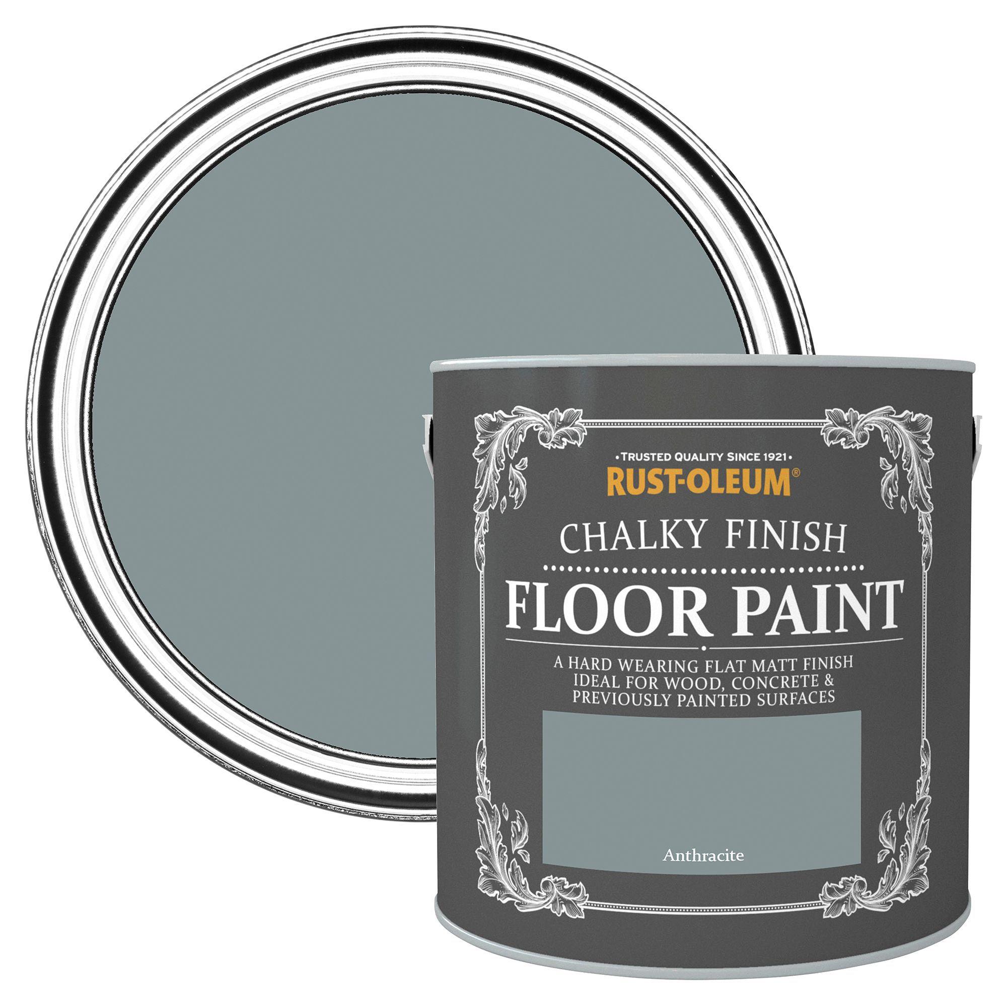 Rust Oleum Anthracite Flat Matt Floor Paint 2.5L | Departments | DIY At Bu0026Q