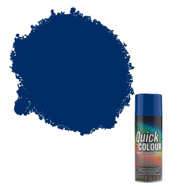 Rust Oleum Quick Colour Blue Gloss Gloss Multi Surface Spray Paint