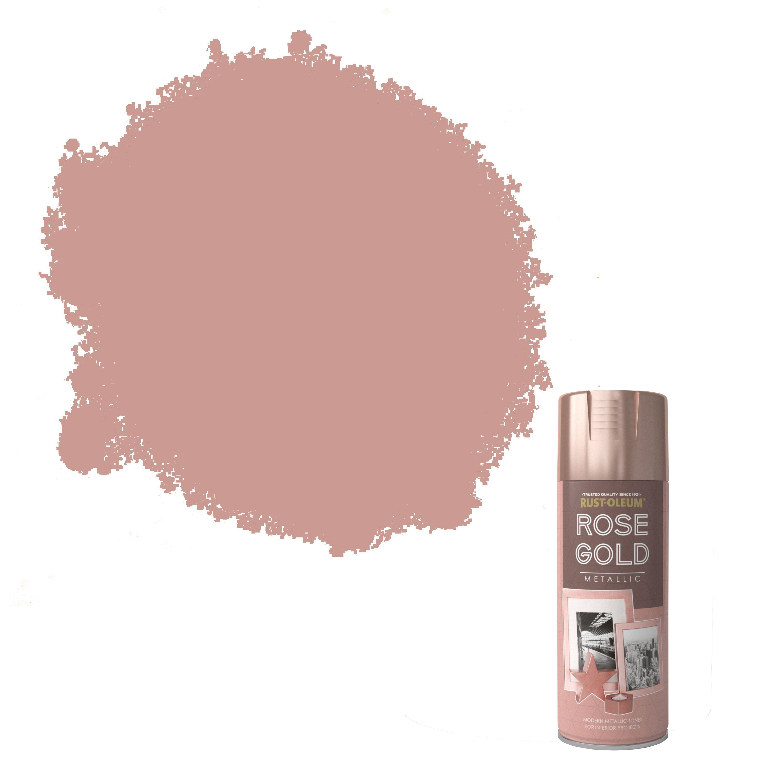Rust Oleum Rose Gold Metallic Spray Paint 400 Ml