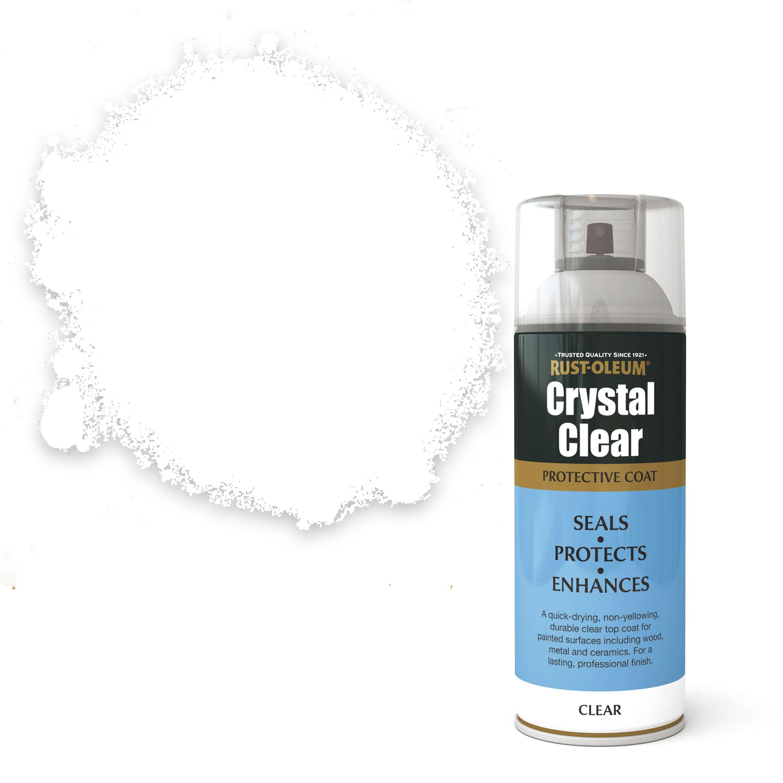Rust Oleum Crystal Clear Clear Matt Matt Protective Lacquer Spray Paint