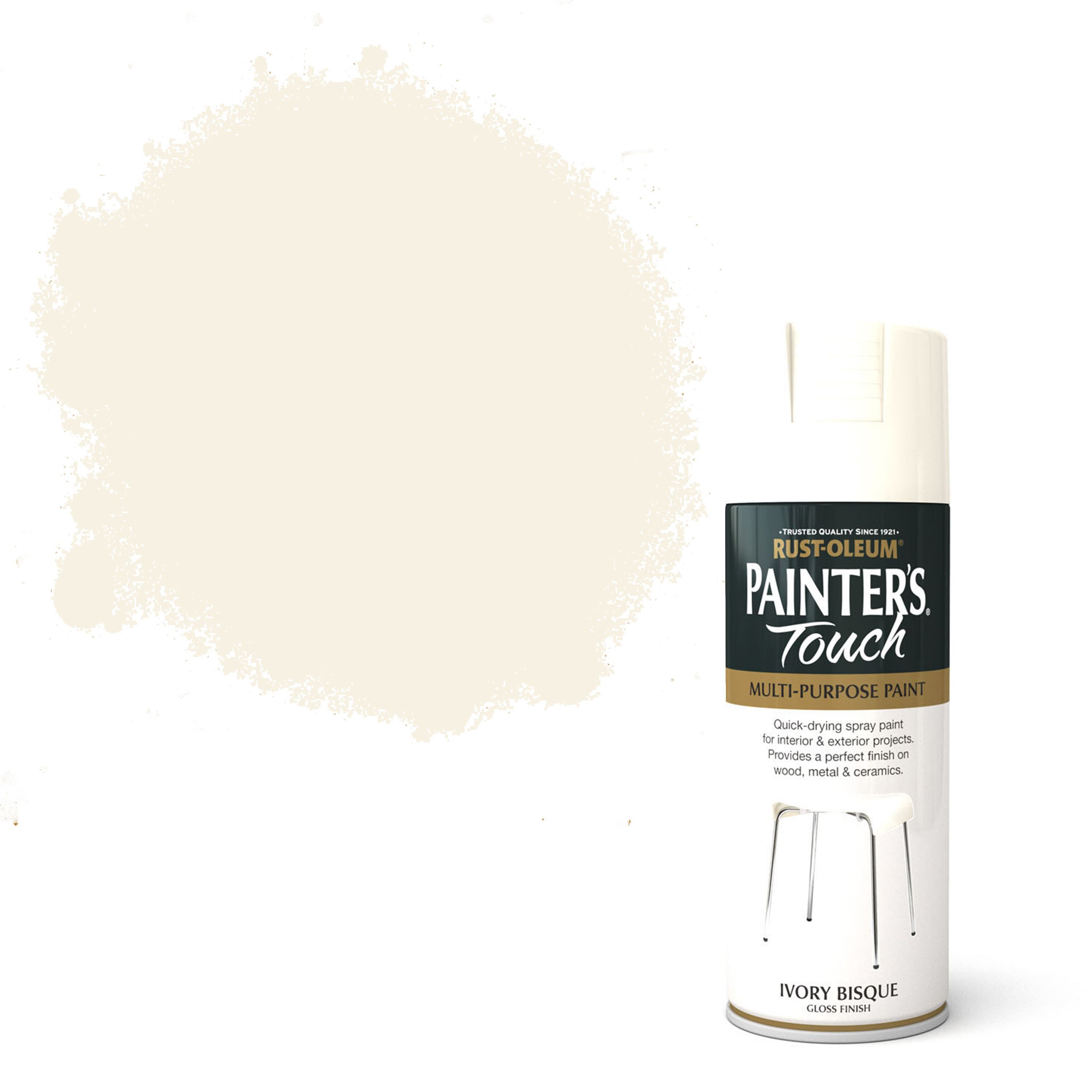 Rust-oleum Painter's Touch Ivory Bisque Gloss Gloss Decorative Spray Paint 400 Ml
