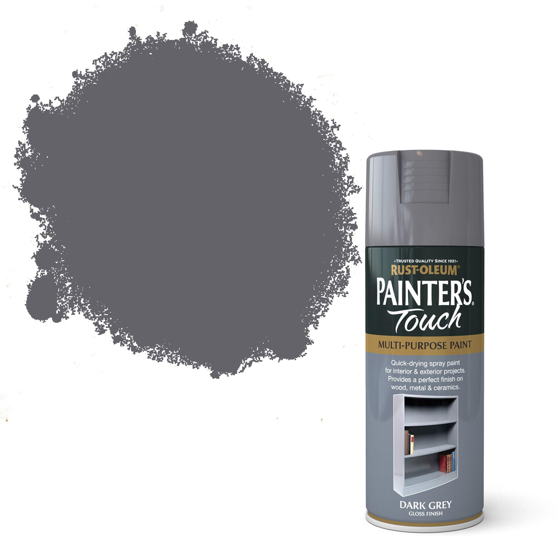 Dark Grey Paint rust-oleum painter's touch dark grey gloss decorative spray paint