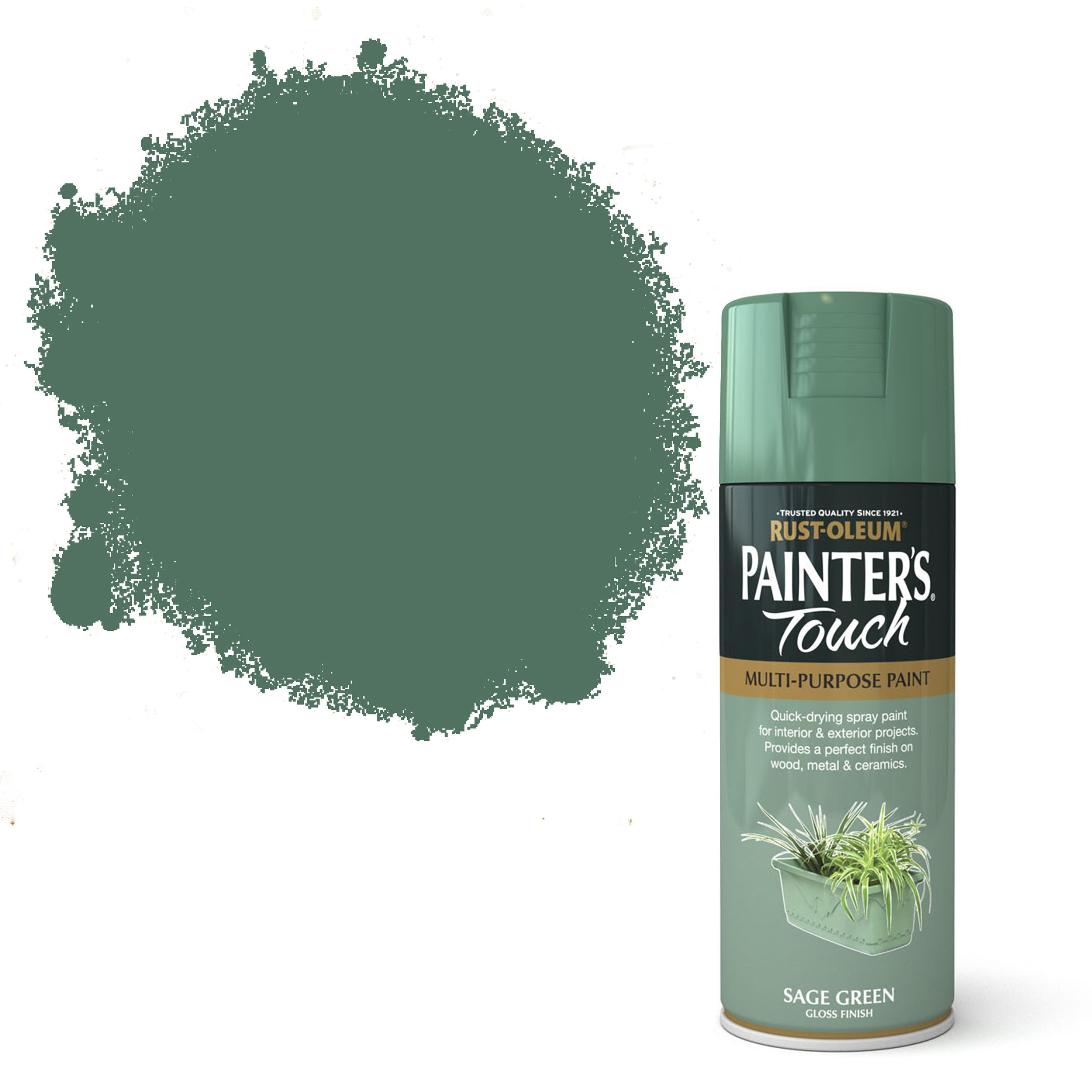 Rust-oleum Painter's Touch Sage Green Gloss Gloss Decorative Spray Paint 400 Ml