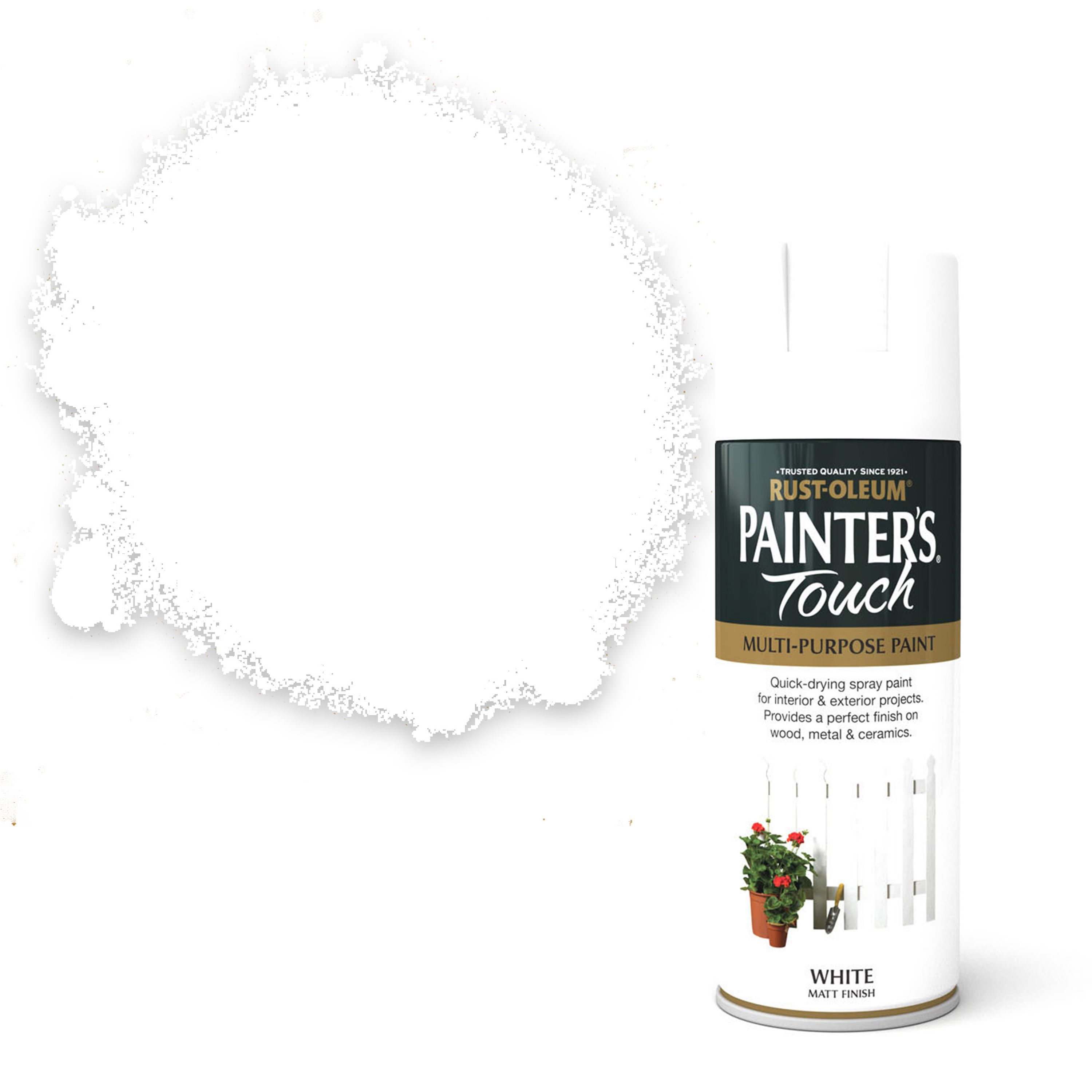 Rust-oleum Painter's Touch White Matt Decorative Spray Paint 400 Ml