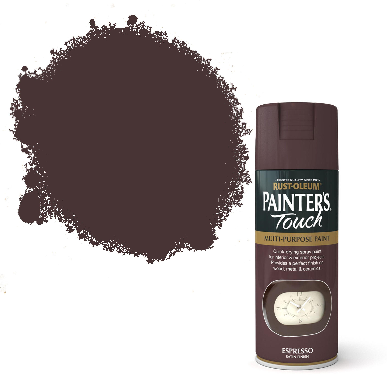 Rust-oleum Painter's Touch Espresso Satin Effect Satin Decorative Spray Paint 400 Ml
