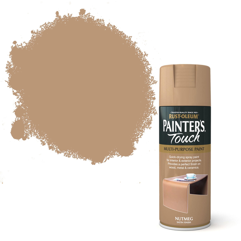 Rust-oleum Painter's Touch Nutmeg Satin Effect Satin Decorative Spray Paint 400 Ml
